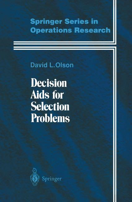 Decision Aids for Selection Problems | Olson, 1995 | Buch (Cover)