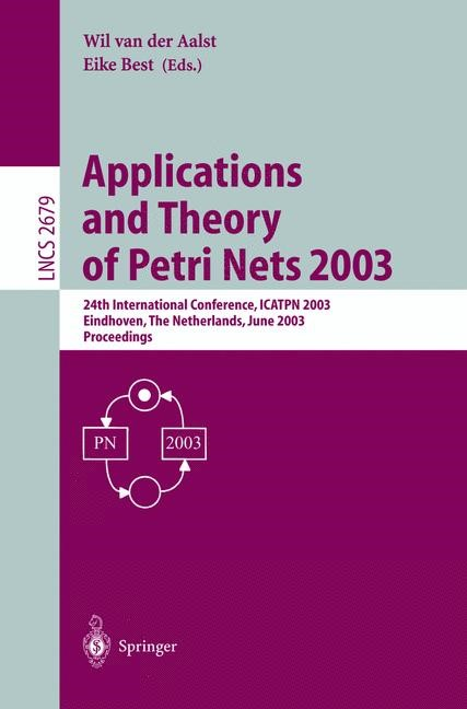 Abbildung von Aalst / Best | Applications and Theory of Petri Nets 2003 | 2003