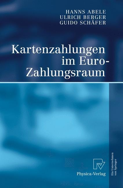 Kartenzahlungen im Euro-Zahlungsraum | Abele / Berger / Schäfer, 2006 | Buch (Cover)