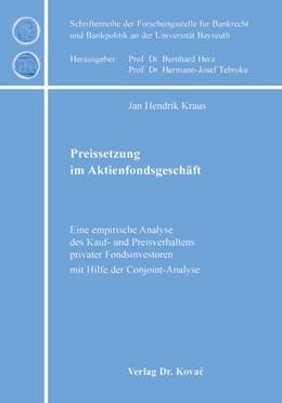 Abbildung von Kraus | Preissetzung im Aktienfondsgeschäft | 2004 | Eine empirische Analyse des Ka... | 1