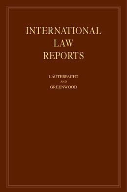 Abbildung von Lauterpacht / Greenwood   International Law Reports: Volume 126   2005   Volume 126