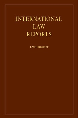 Abbildung von Lauterpacht | International Law Reports | 1978