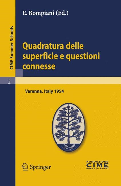 Quadratura delle superficie e questioni connesse | Bompiani | Reprint of the 1st ed. C.I.M.E., Florence, 1954, 2011 | Buch (Cover)