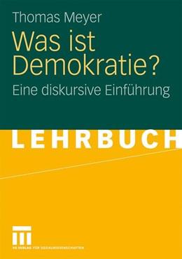 Abbildung von Meyer | Was ist Demokratie? | 2008 | Eine diskursive Einführung