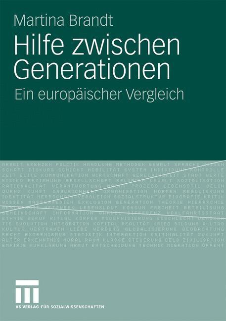 Hilfe zwischen Generationen | Brandt, 2009 | Buch (Cover)