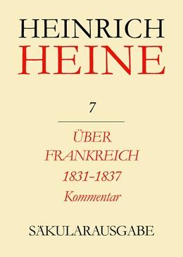 Abbildung von Mende | Über Frankreich 1831-1837. Berichte über Kunst und Politik. Kommentar | 1983 | Werke, Briefwechsel, Lebenszeu...