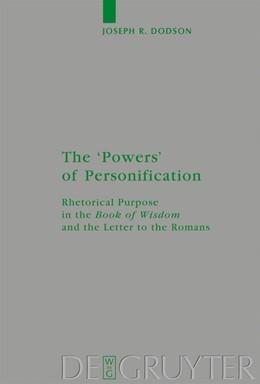 Abbildung von Dodson | The 'Powers' of Personification | 2008 | Rhetorical Purpose in the 'Boo... | 161