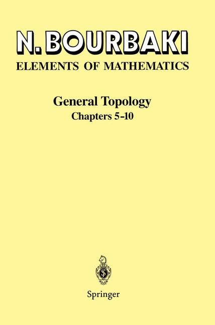 General Topology | Bourbaki | 1st ed. 1989, 2nd printing, 1998 | Buch (Cover)