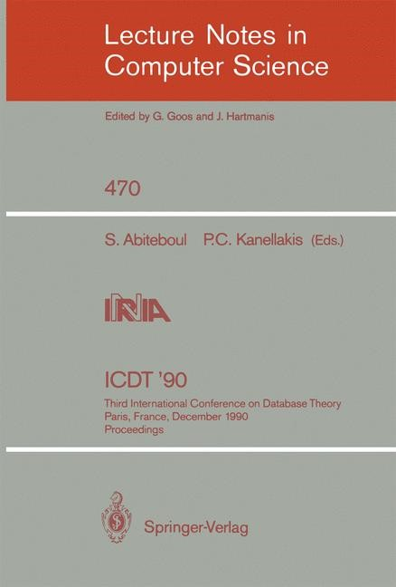 ICDT '90 | Abiteboul / Kanellakis, 1990 | Buch (Cover)