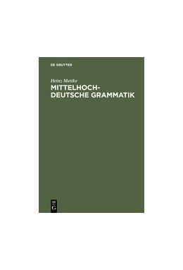 Abbildung von Mettke | Mittelhochdeutsche Grammatik | 8th Edition | 1995
