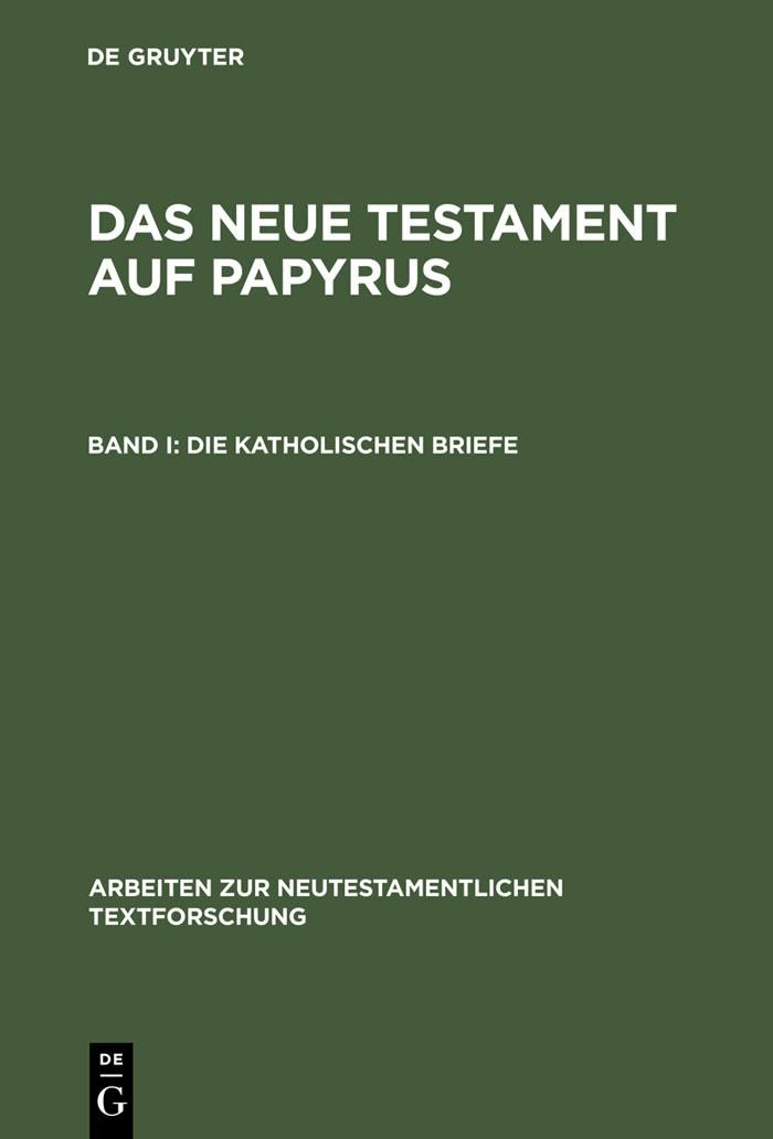 Die katholischen Briefe | Junack / Grunewald | Reprint 2013, 1986 | Buch (Cover)