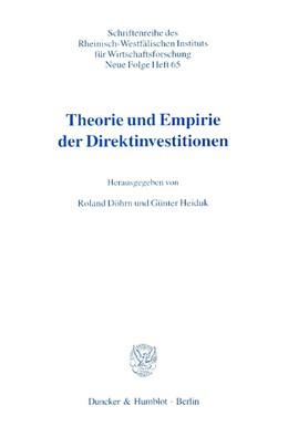 Abbildung von Döhrn / Heiduk | Theorie und Empirie der Direktinvestitionen. | 2000 | 65