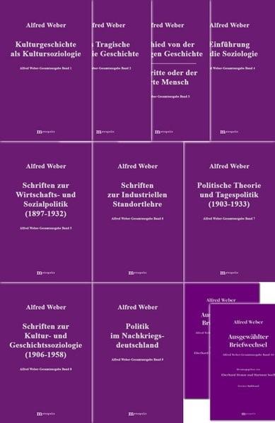 Alfred Weber Gesamtausgabe   Bräu / Demm / Nutzinger, 1997 (Cover)