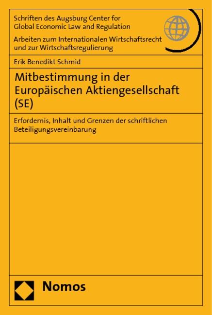 Abbildung von Schmid | Mitbestimmung in der Europäischen Aktiengesellschaft (SE) | 2010