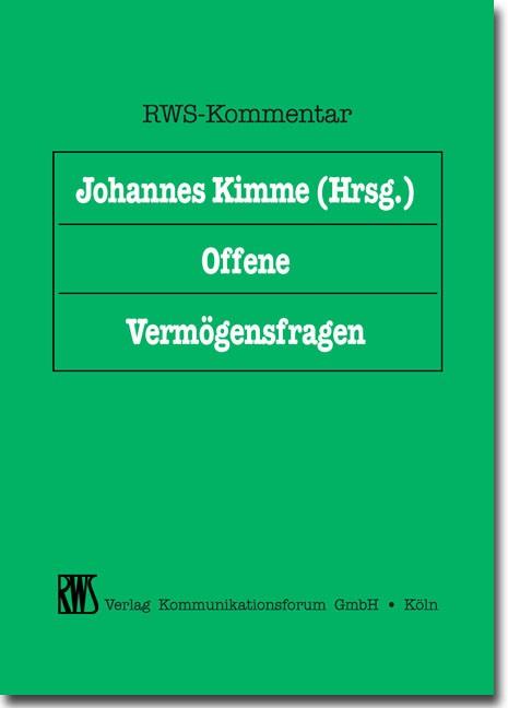 Offene Vermögensfragen   Kimme (Cover)