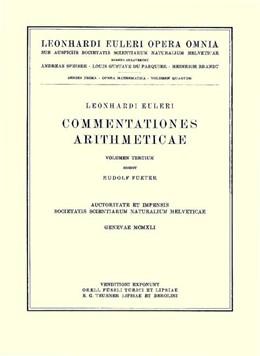 Abbildung von Euler / Du Pasquier | Commentationes algebraicae ad theoriam combinationum et probabilitatum pertinentes | 1923 | 1 / 7