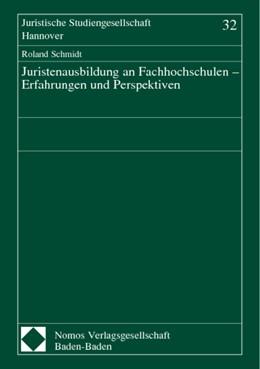 Abbildung von Schmidt | Juristenausbildung an Fachhochschulen - Erfahrungen und Perspektiven | 2001 | Vortrag, gehalten am 5. Dezemb... | 32