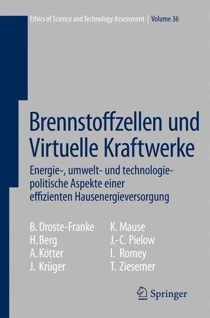 Brennstoffzellen und Virtuelle Kraftwerke | Droste-Franke / Berg / Kötter, 2008 | Buch (Cover)