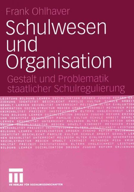Schulwesen und Organisation | Ohlhaver | 2005, 2005 | Buch (Cover)