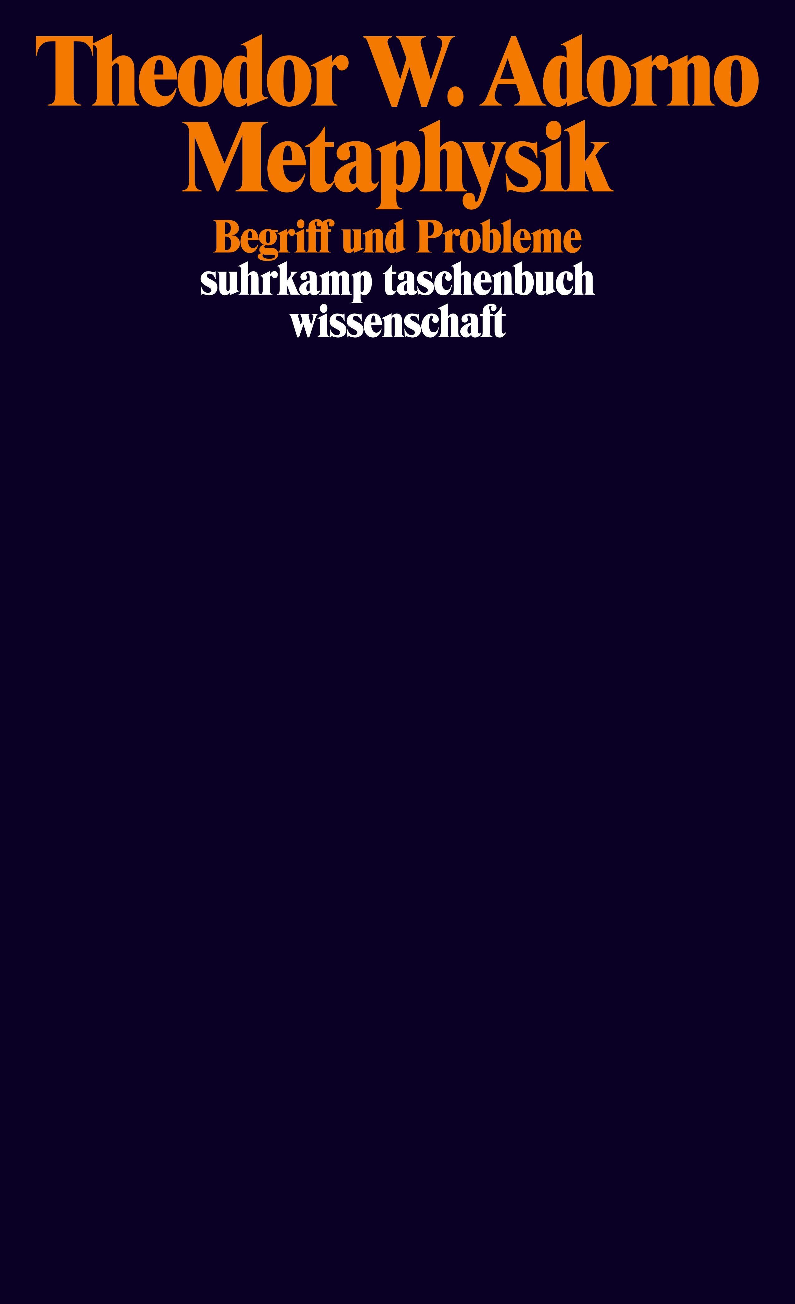Abbildung von Adorno / Tiedemann | Metaphysik | 2006
