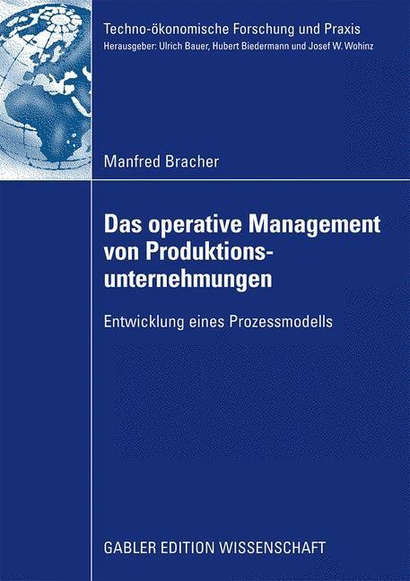 Abbildung von Bracher | Das operative Management von Produktionsunternehmungen | 2009