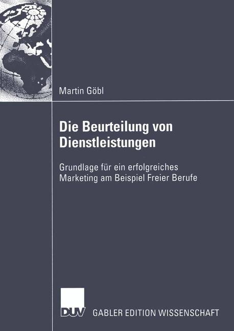 Die Beurteilung von Dienstleistungen   Göbl, 2003   Buch (Cover)