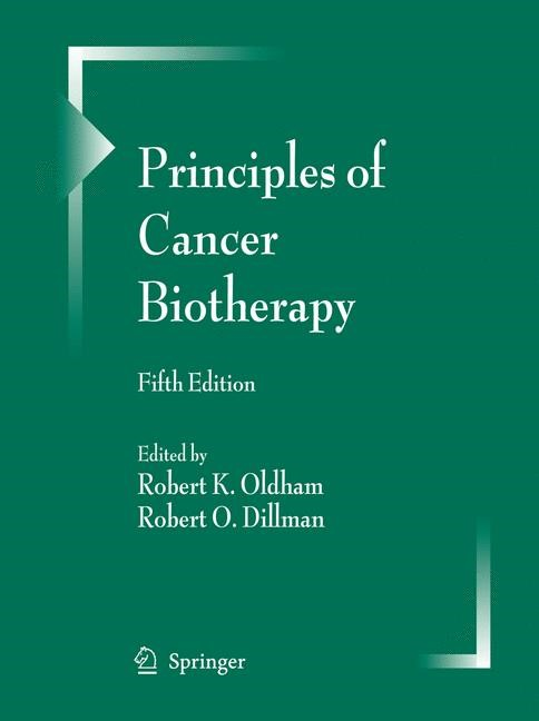 Principles of Cancer Biotherapy | Oldham / Dillman | 5th ed., 2009 | Buch (Cover)