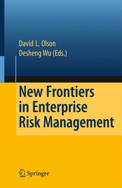 New Frontiers in Enterprise Risk Management | Olson / Wu | 1st ed. Softcover of orig. ed. 2008, 2010 | Buch (Cover)