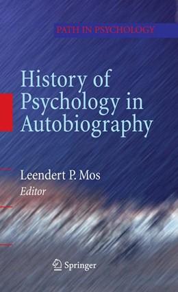Abbildung von Mos | History of Psychology in Autobiography | 2009