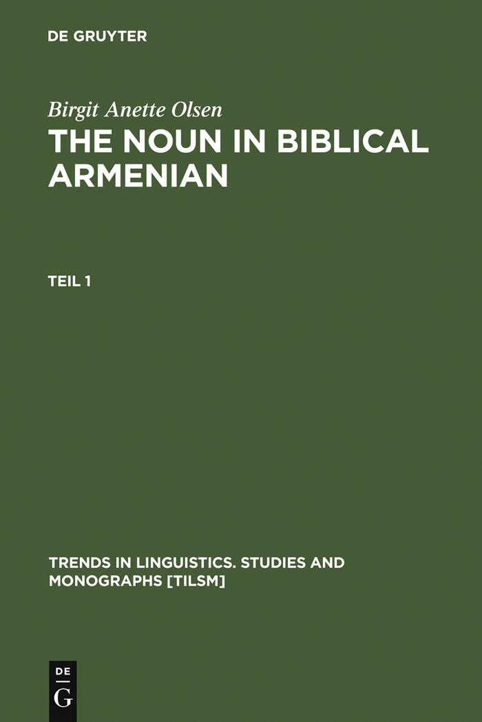 The Noun in Biblical Armenian | Olsen, 1999 | Buch (Cover)