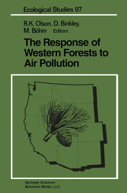The Response of Western Forests to Air Pollution | Olson / Binkley / Böhm, 1992 | Buch (Cover)