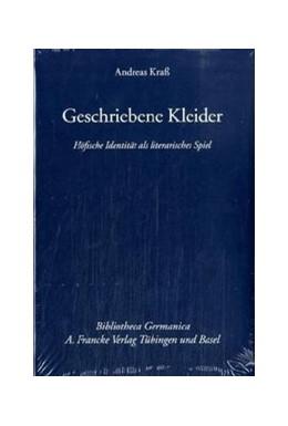 Abbildung von Kraß   Geschriebene Kleider   2006   Höfische Identität als literar...   50