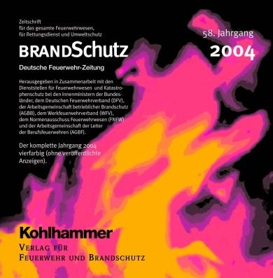 BRANDSchutz 2004 auf CD-ROM | 58. Jahrgang, 2005 (Cover)