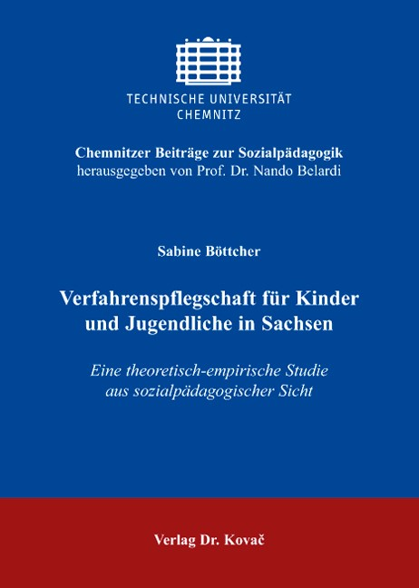 Abbildung von Böttcher | Verfahrenspflegschaft für Kinder und Jugendliche in Sachsen | 2008