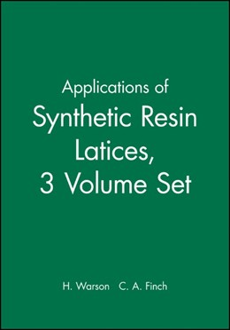 Abbildung von Warson / Finch | Applications of Synthetic Resin Latices | 2001