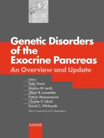 Genetic Disorders of the Exocrine Pancreas | Durie / Lerch / Lowenfels / Maisonneuve / Ulrich / Whitcomb, 2002 | Buch (Cover)