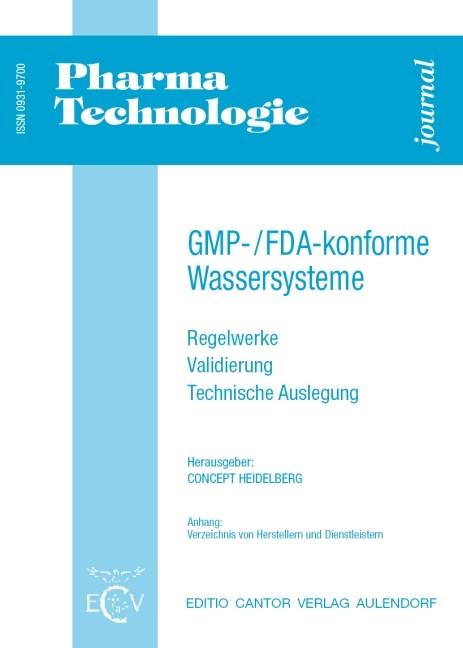 GMP-/FDA-konforme Wassersysteme   Bracker / HEIDELBERG / Dressler, 2000   Buch (Cover)