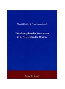 Abbildung von Gillbricht / Mangelsdorf | UV-Absorption des Seewassers in der Helgoländer Region | 2001 | 66