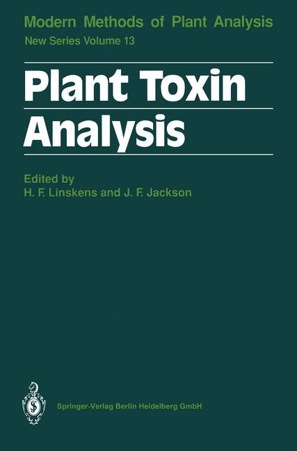 Plant Toxin Analysis   Linskens / Jackson, 1992   Buch (Cover)