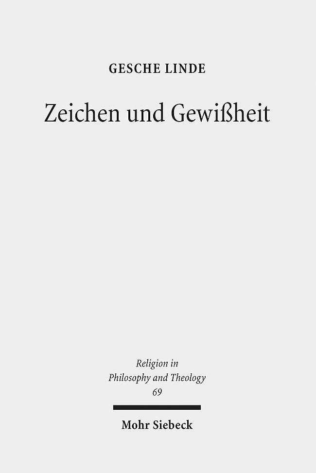 Zeichen und Gewißheit | Linde, 2013 | Buch (Cover)