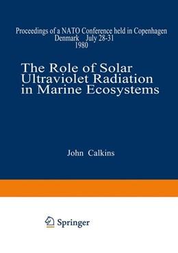 Abbildung von Calkins | The Role of Solar Ultraviolet Radiation in Marine Ecosystems | 1982 | Proceedings of a NATO Conferen...