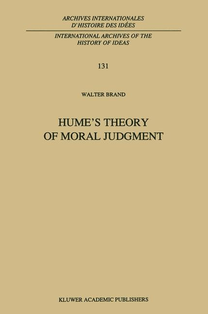 Abbildung von Brand | Hume's Theory of Moral Judgment | 2001