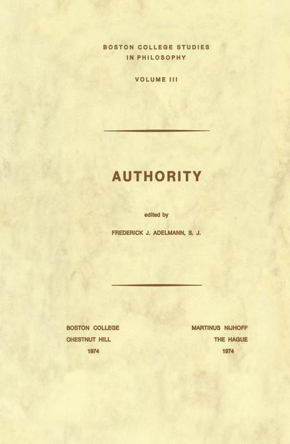 Abbildung von Adelmann | Authority | 1974