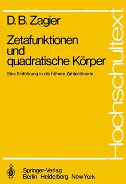 Abbildung von Zagier | Zetafunktionen und quadratische Körper | 1. Auflage | 1981 | beck-shop.de
