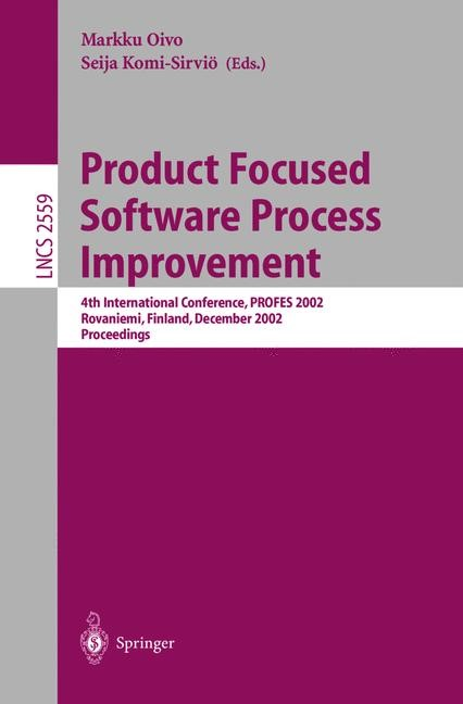 Product Focused Software Process Improvement | Oivo / Komi-Sirviö, 2002 | Buch (Cover)