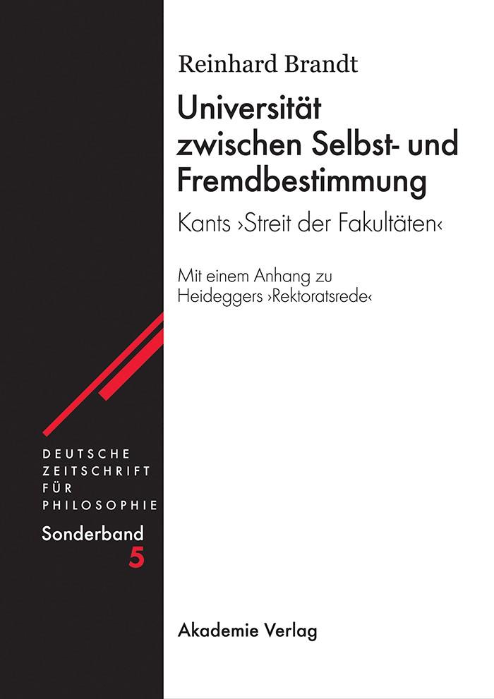 Universität zwischen Selbst- und Fremdbestimmung | Brandt | Reprint 2015, 2003 | Buch (Cover)