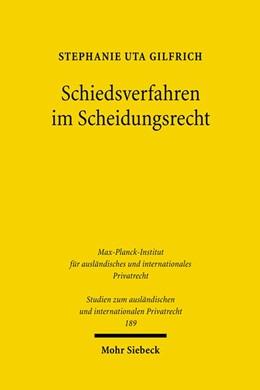 Abbildung von Gilfrich | Schiedsverfahren im Scheidungsrecht | 1., Aufl. | 2007 | Eine rechtsvergleichende Unter... | 189