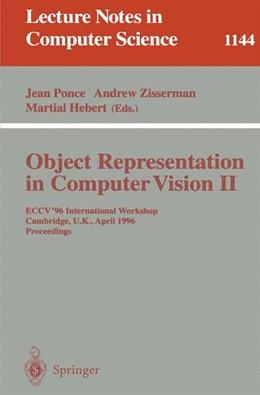Abbildung von Ponce / Zisserman / Hebert   Object Representation in Computer Vision II   1996   ECCV '96 International Worksho...   1144