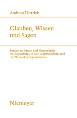 Abbildung von Dittrich | Glauben, Wissen und Sagen | 2009 | Studien zu Wissen und Wissensk... | 188