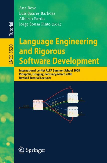 Language Engineering and Rigorous Software Development | Bove / Barbosa / Pardo / Pinto, 2009 | Buch (Cover)